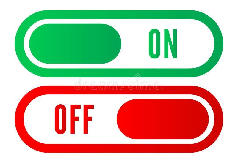en apagado transferencia directa del vector del ejemplo de los botones ilustración del vector