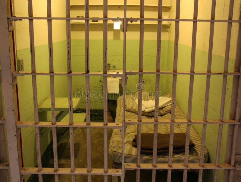En arrestcell på Alcatraz royaltyfria bilder