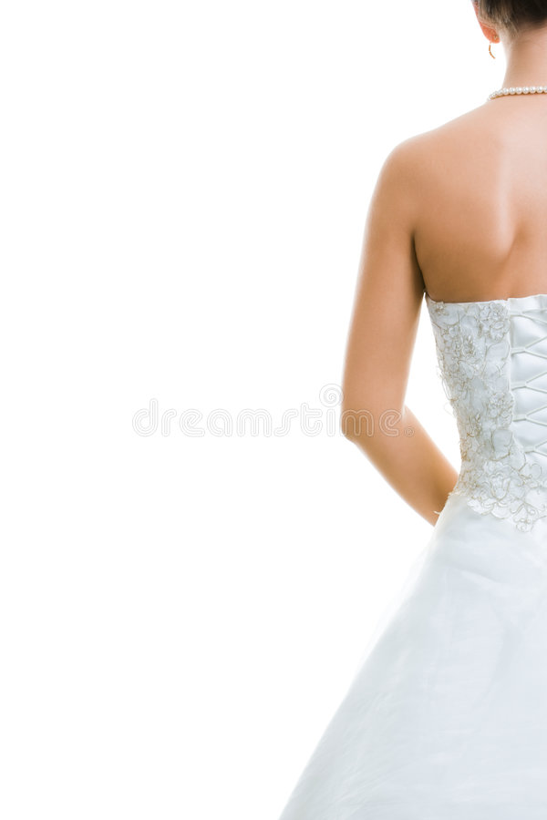 En arrière de la mariée photographie stock