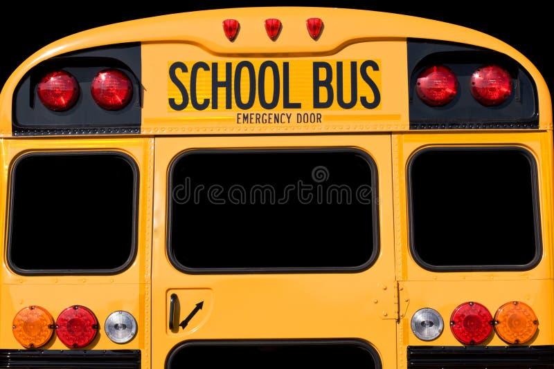 En arrière du bus photographie stock