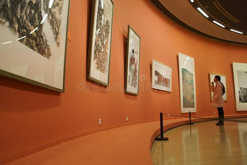 En Asie, la Chine, Pékin, Musée d'Art, la disposition de hall d'exposition, conception intérieure image stock