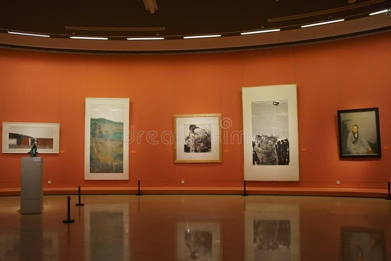 En Asie, la Chine, Pékin, Musée d'Art, la disposition de hall d'exposition, conception intérieure photographie stock libre de droits