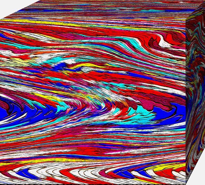 En ask av abstraktionfärger cubism stock illustrationer