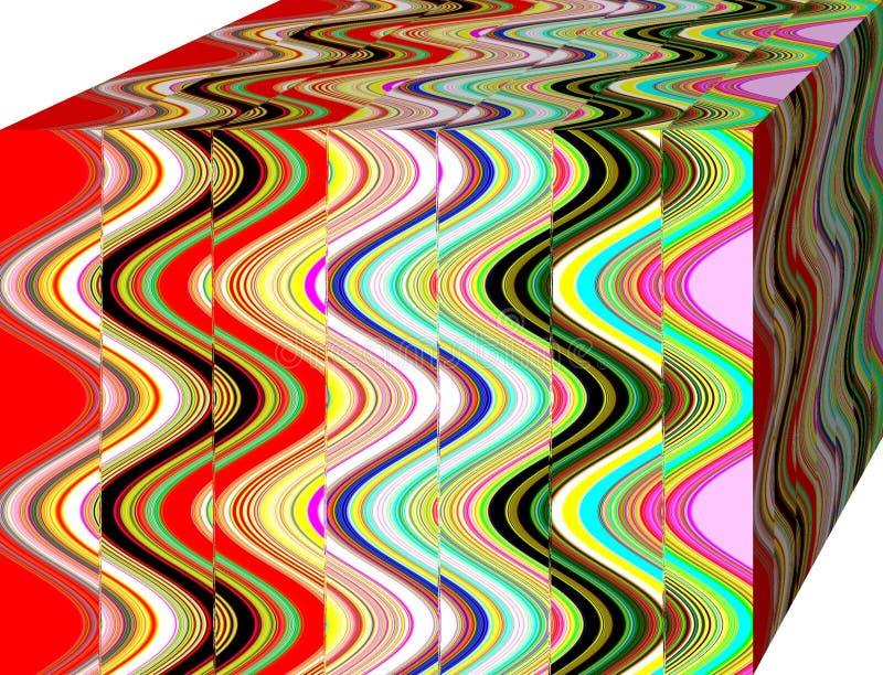 En ask av abstraktionfärger Illustration bakgrund cubism vektor illustrationer
