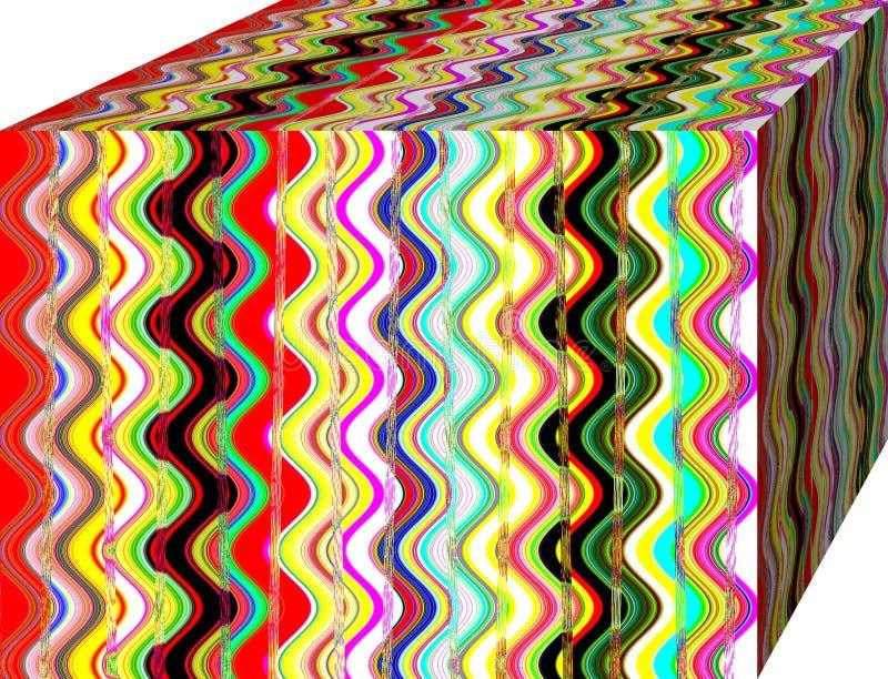 En ask av abstraktionfärger Illustration bakgrund cubism royaltyfri illustrationer