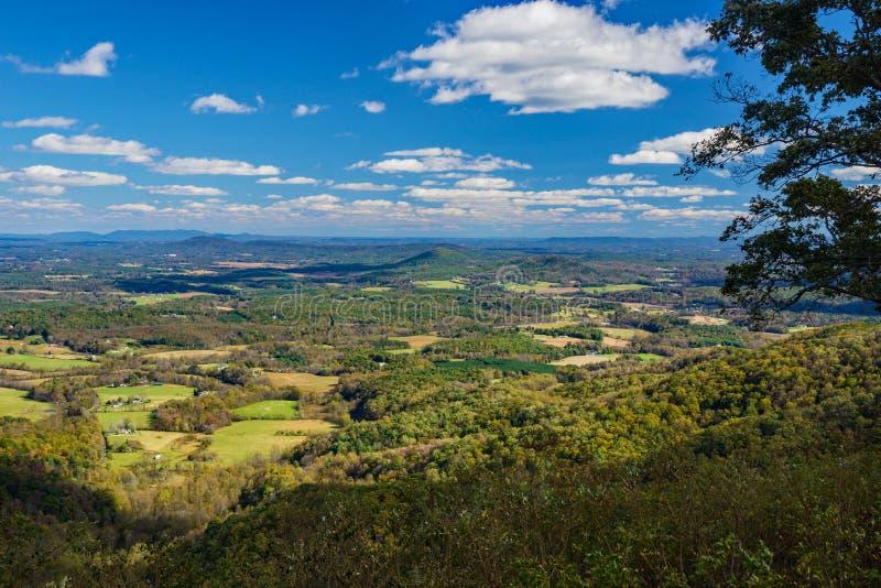 En Autumn View av den Piedmont dalen arkivfoto