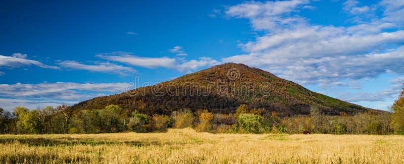 En Autumn View av skärseldberget royaltyfri foto