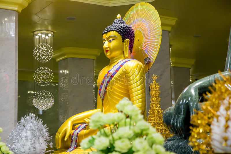 En av Buddha i Thailand royaltyfri bild