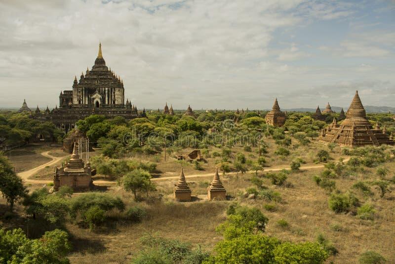 En av den berömda pagoden från Bagan royaltyfri bild