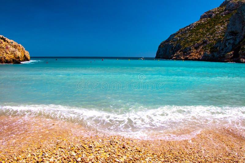 En av den mest berömda spanska stranden royaltyfria bilder