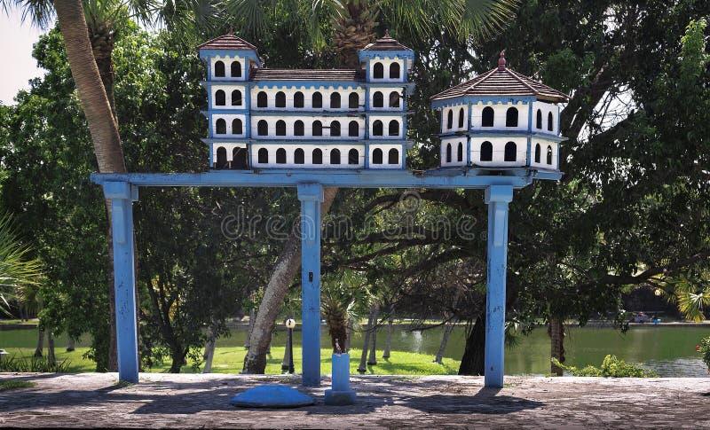 En aviarium i Kuban Varadero arkivbild