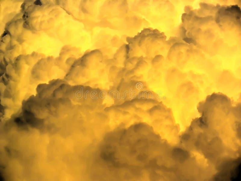 Stormig molnbakgrund royaltyfria foton