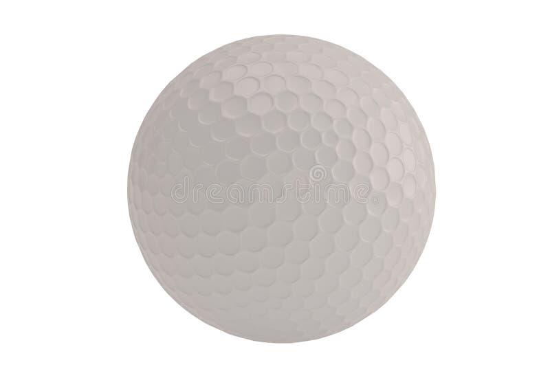 En bakgrund för golfbollisolatedonvit illustration 3d royaltyfri illustrationer