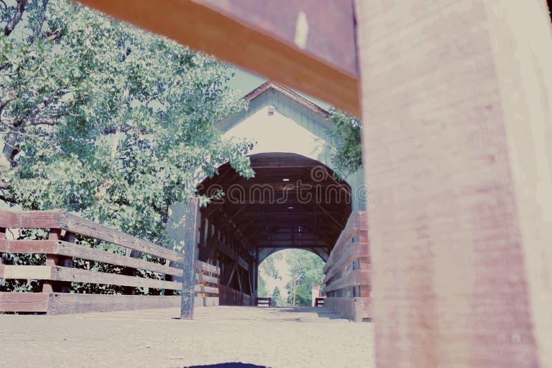 En beautifully konstruerad träbro 5 fotografering för bildbyråer