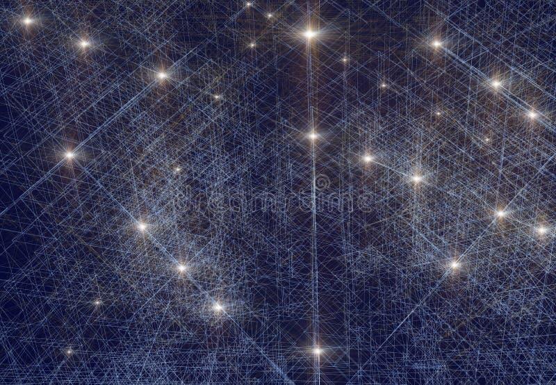 En begreppsm?ssig bild som f?rest?ller nerv- n?tverk i konstgjord intelligens vektor illustrationer