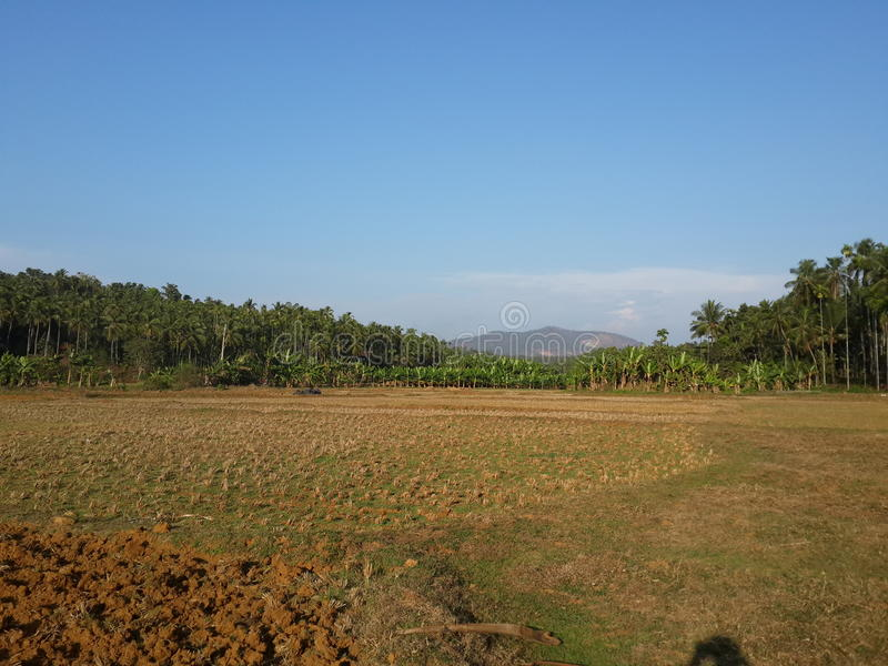 En beuty full landscape med berget royaltyfri foto