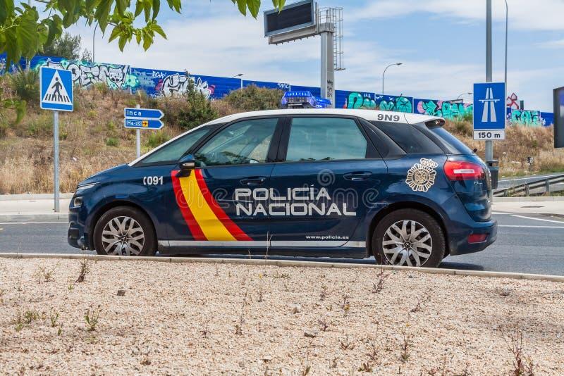 En bil till polisen på Mallorca arkivbild