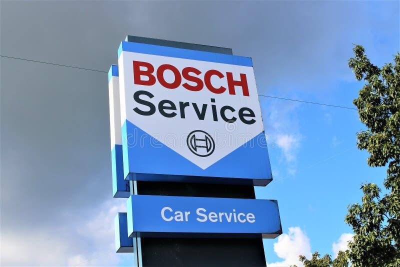 En bild av en Bosch logo - Bielefeld/Tyskland - 09/16/2017 fotografering för bildbyråer