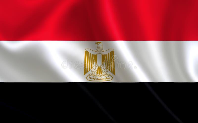 En bild av flaggan av Egypten Serie 'Afrika ', royaltyfri illustrationer
