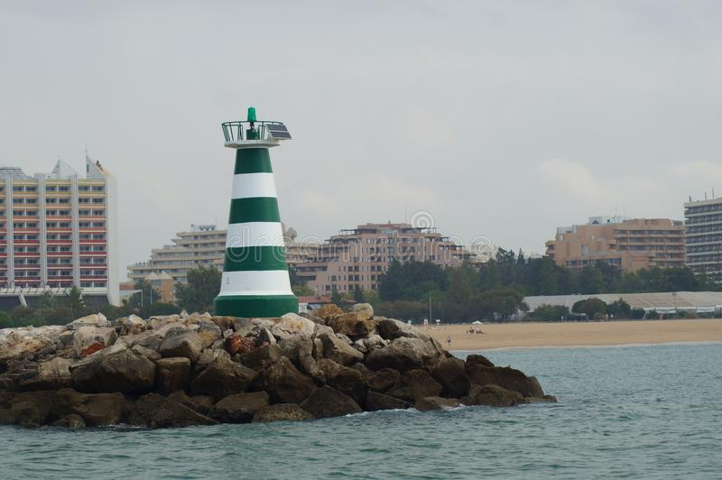 En biljettpris av havet - Algarve, Portugal arkivbild