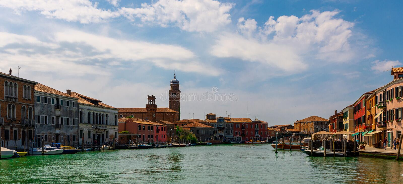 En blick på Murano arkivbild