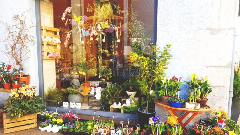 En blomsterhandel royaltyfri foto