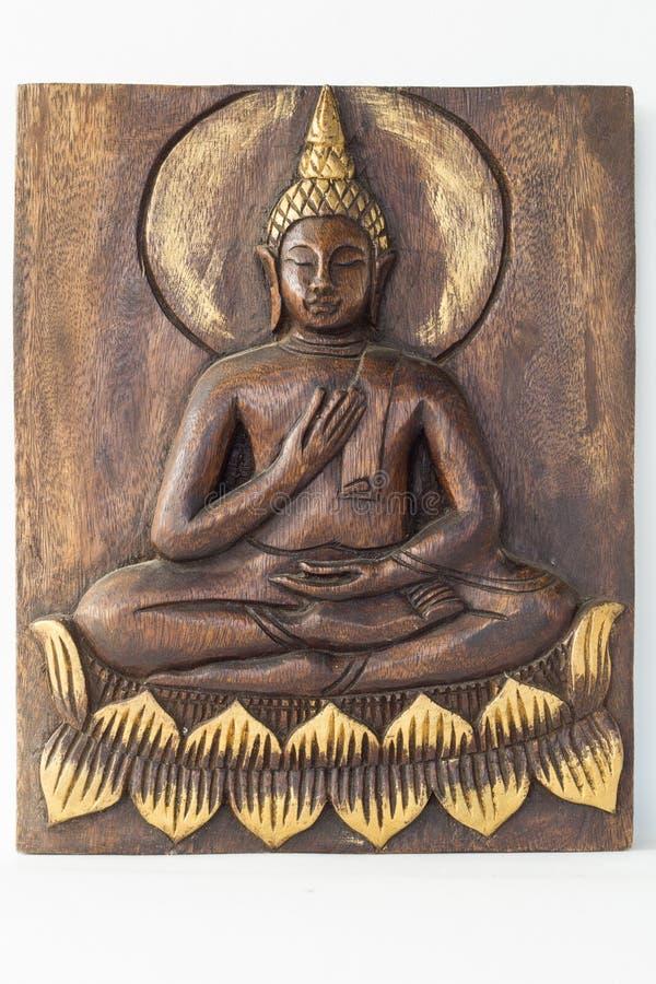 En bois  Bouddha image stock