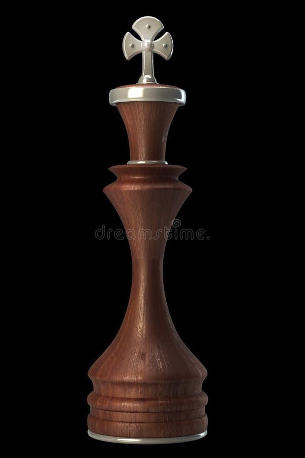 En bois de roi d'échecs d'isolement illustration libre de droits