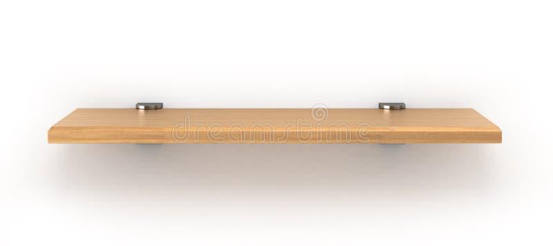 En bois rayonnez d'isolement sur la fin de blanc  illustration libre de droits