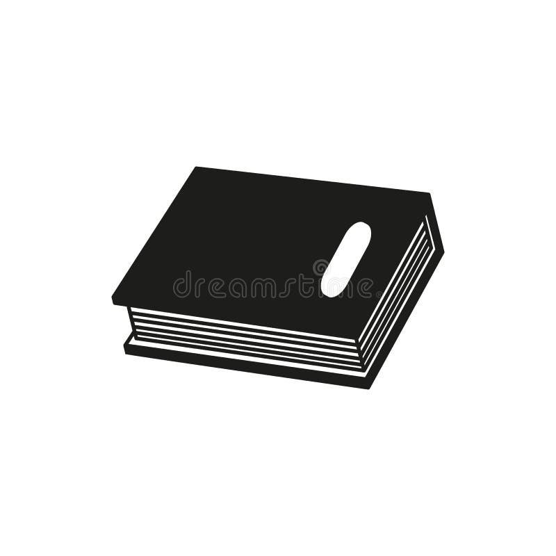 En bok av den svarta symbolen eller en eBook läste royaltyfri illustrationer
