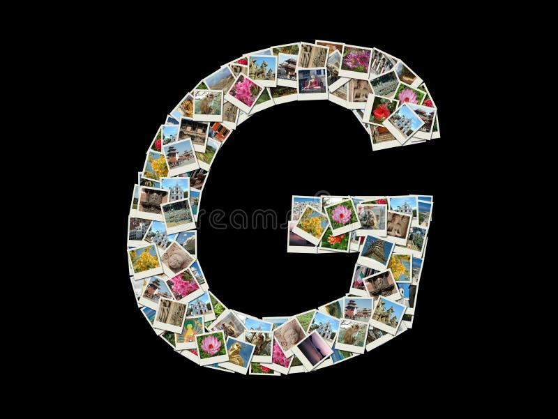 En bokstav - collage av loppfoto arkivfoto
