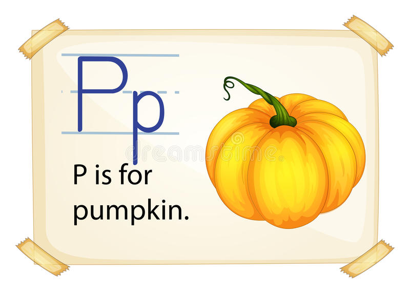 En bokstav P för pumpa stock illustrationer