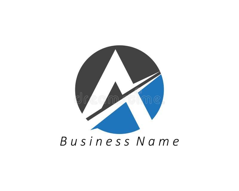 En bokstavsLogo Business Template Vector symbol royaltyfri illustrationer
