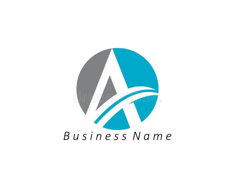 En bokstavsLogo Business Template Vector symbol stock illustrationer
