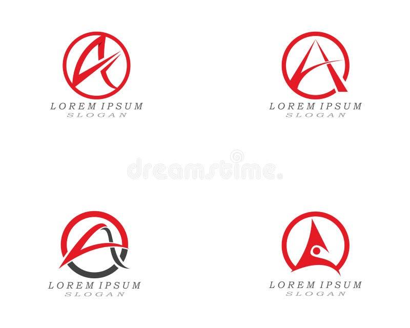 En bokstavsLogo Business Template Vector symbol vektor illustrationer