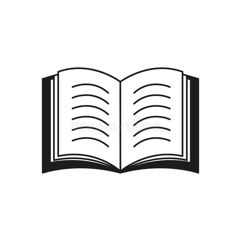 En boksymbol eller en eBook läst text stock illustrationer