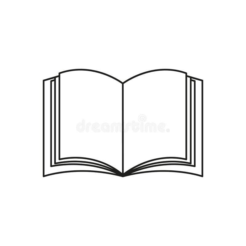 En boksymbol eller en eBook läste stock illustrationer