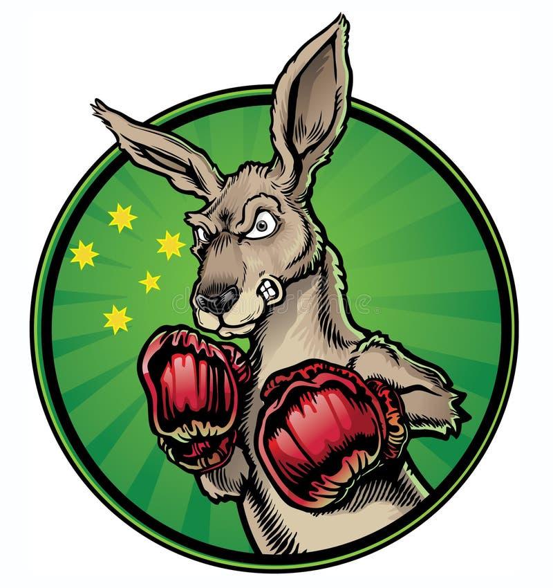 Boxningkänguru royaltyfri illustrationer