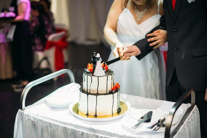 En bröllopstårta royaltyfri bild
