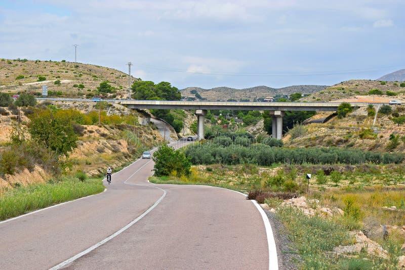 En bro över en väg royaltyfri bild