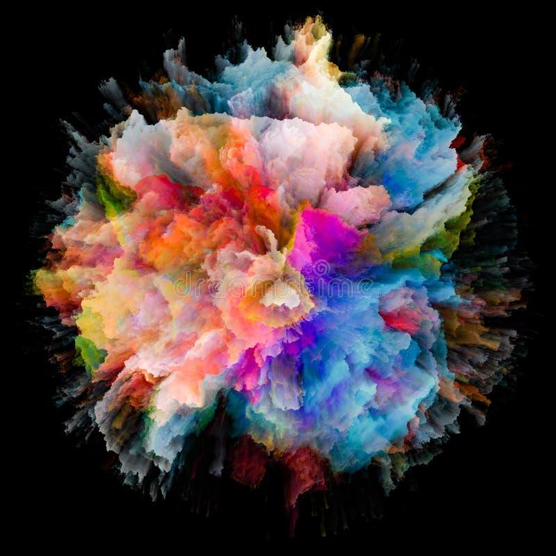 En busca de la explosión del chapoteo del color libre illustration