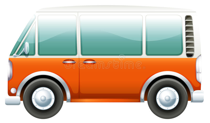 En buss royaltyfri illustrationer
