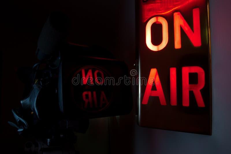 En cámara de televisión del aire foto de archivo libre de regalías