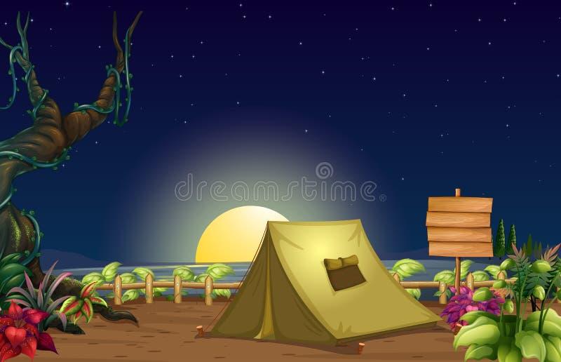 En campingplats vektor illustrationer
