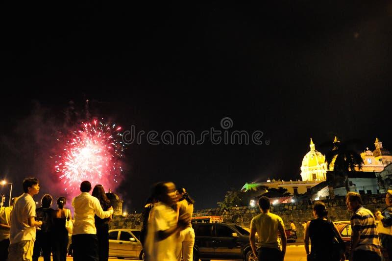 En Cartagena, Año Nuevo del nuevo de Año imagen de archivo libre de regalías