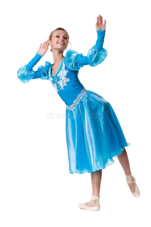 En caucasian ballerinabalettdansör för ung kvinna arkivbild