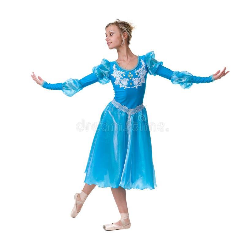 En caucasian ballerinabalettdansör för ung kvinna arkivfoto