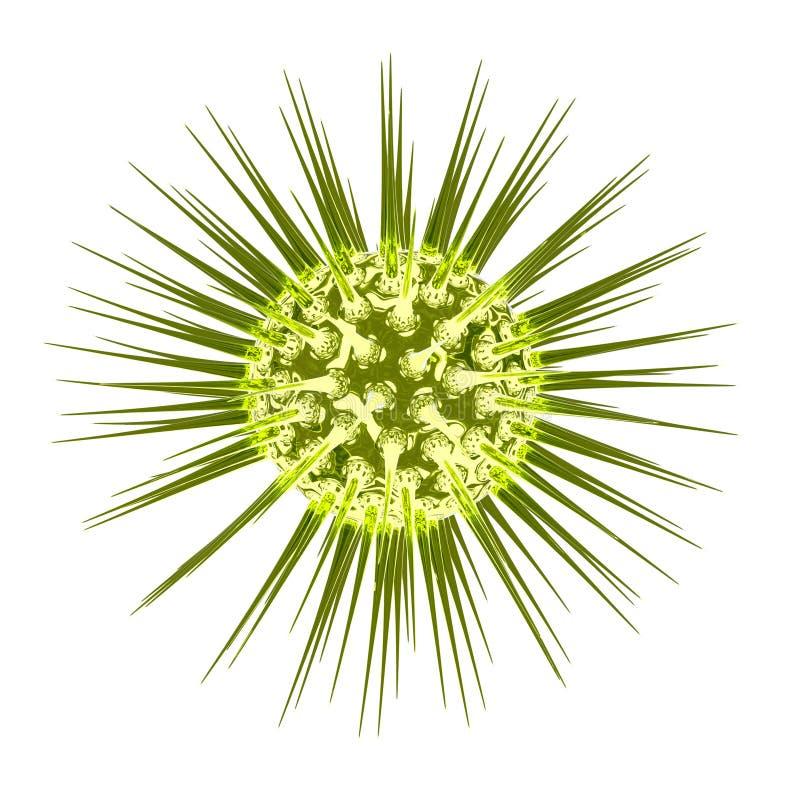 En cell för mikroorganism 3d framförande 3d stock illustrationer