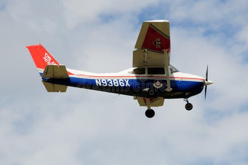 Borgerligt lufta patrullen Cessna 182 royaltyfri fotografi