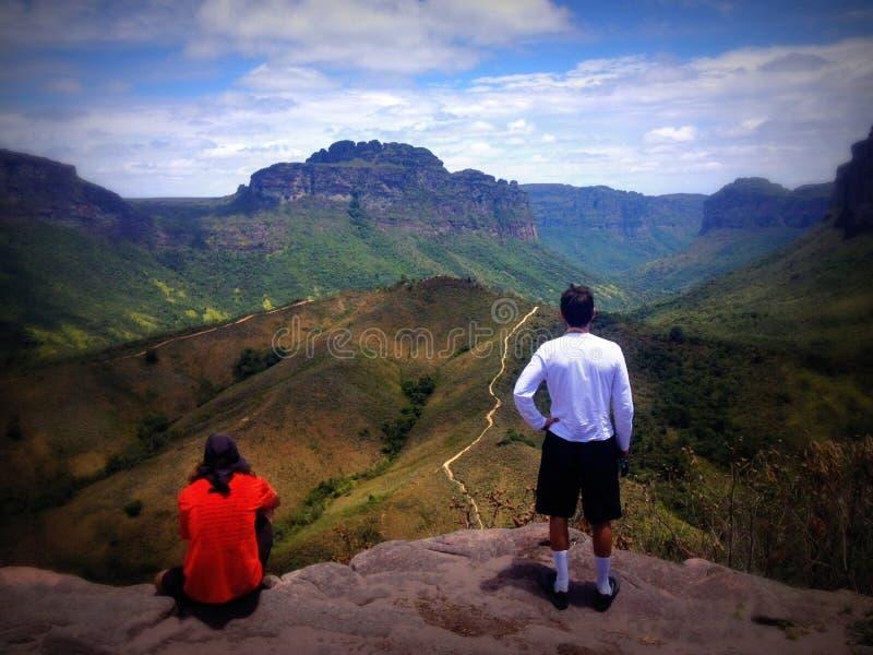En che esamina la valle, Chapada Diamantina, Brasile immagine stock